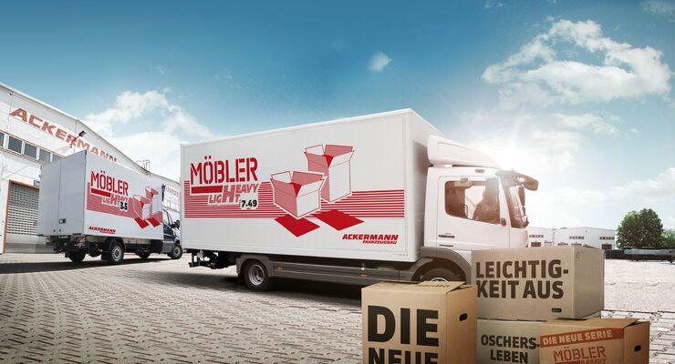 Ackermann, Fahrzeugbau, Juni 2012, Möbel Heavy Light
