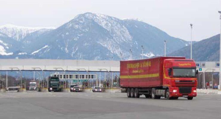 Am Brenner gilt das sektorale Fahrverbot für Lkw.