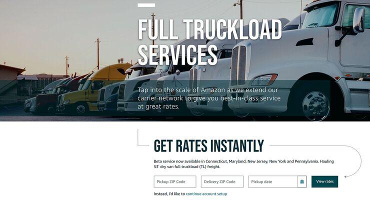 Amazon-Frachtenbörse freight.amazon.com