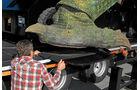 Antirutschmatten sollen die Füße des Monsters zusätzlich sichern. Extra-Verbreiterungen geben den vier mächtigen Füßen zusätzlichen Halt.