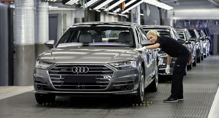 Audi, Neckarsulm, Produktion, Logistik