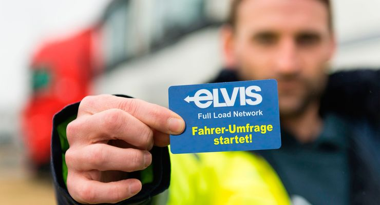Beim Ladungsverbund ELVIS startet eine Umfrage unter Lkw-Fahrern.
