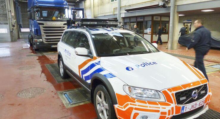 Belgien, Lkw, Polizei, HU, Hauptuntersuchung