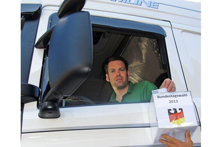 Bundestagswahl 2013, Wahlurne, Reinhold Schwenker, Neubulach im Schwarzwald
