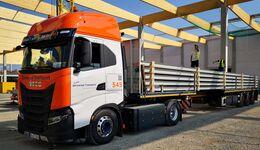 CNG-Lkw bei Universal Transport