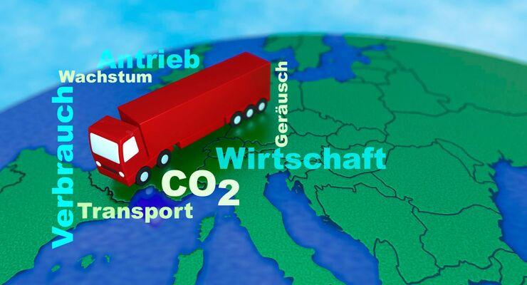 CO2, Verbrauch, Antrieb, Lkw, Europa