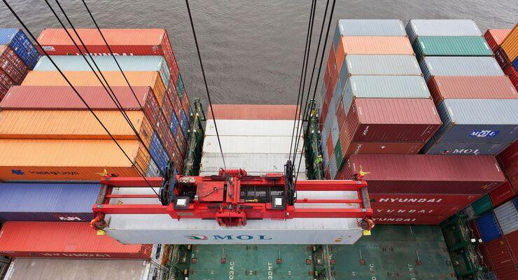 Container, Hafen, Schiff, Containerschiff
