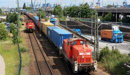 Containerzug vom HHLA Containerterminal Burchardkai