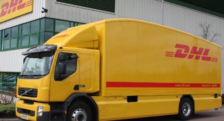 DHL testet 18-Tonnen Hybrid-Lkw