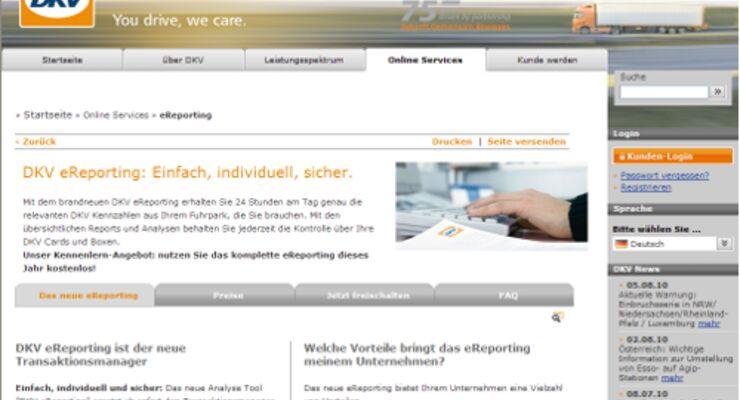DKV bringt Servicetool für das Internet