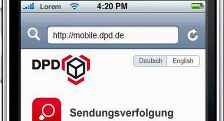 DPD: Internet fürs Handy