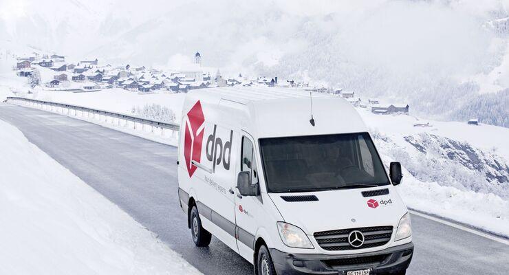 DPD, Winter, Zustellung, letzte Meile, Graubünden