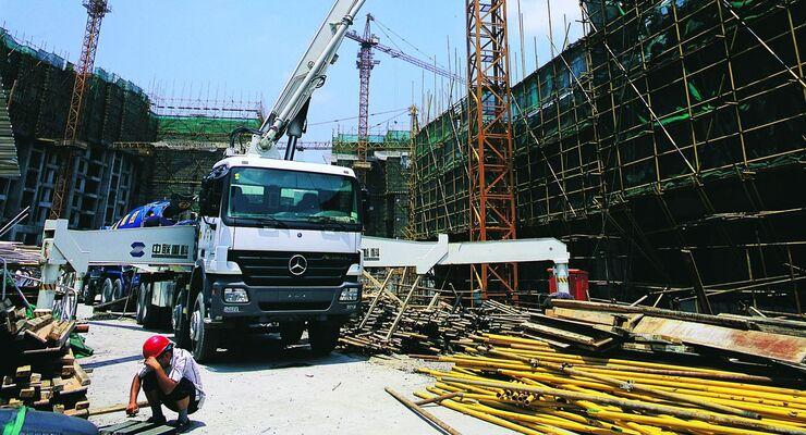 Daimler, China, Baustelle, Ausschnitt
