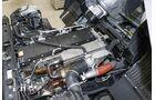 Der Motor des Mitsubishi Fuso