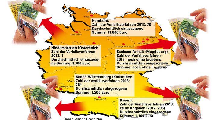 Deutschland, Karte, Geld
