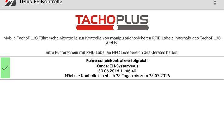 Die App TachoPlus von eh-systemhaus hilft bei der Führerschein-Kontrolle.