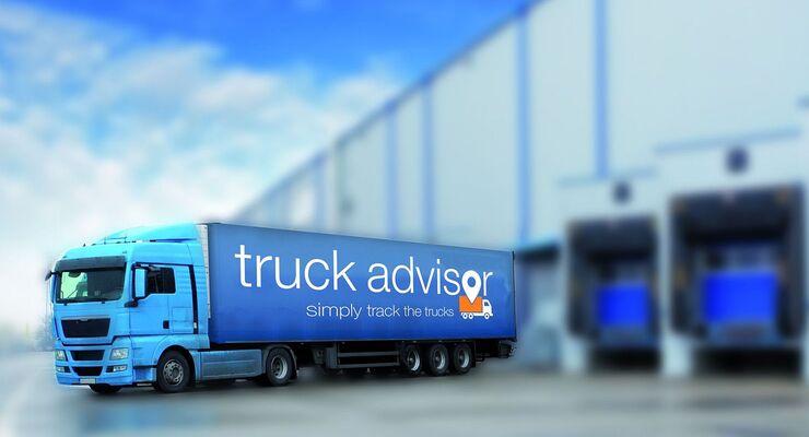 Die App Truck Advisor von Osconomy hilft dem Lkw-Fahrer.