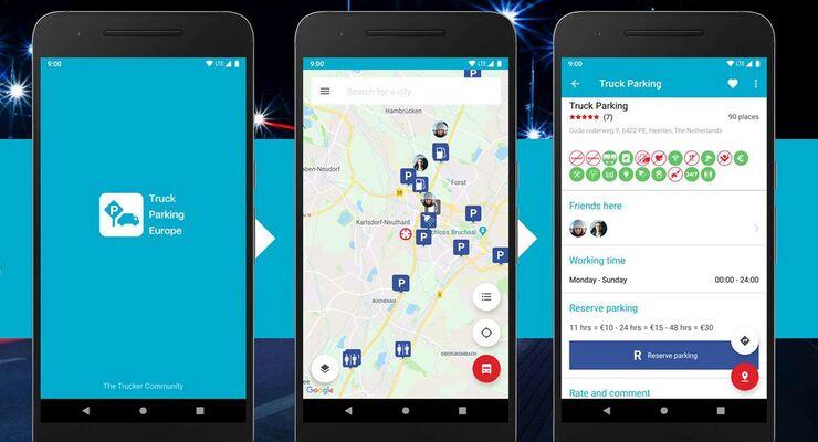 Die App Truck Parking Europe gibt's für Android und iOS.