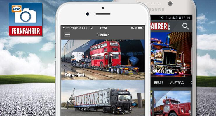Die FERNFAHRER Reporter App ist da - die erste Foto-Cummunity für Trucker und Fernfahrer.