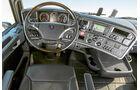 Die stärksten Serien-Lkw, Vergleichstest, Scania, Cockpit