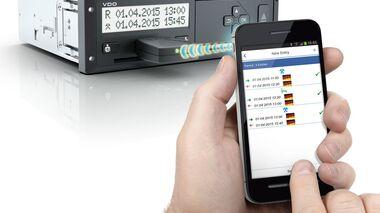 Digitaler Tachograf, Arbeitszeiten, Arbeits- und Bereitschaftszeit, Smartphone, digital