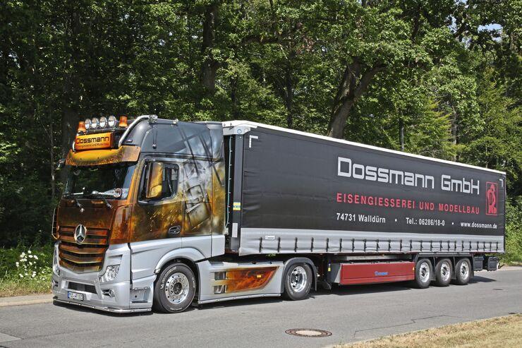 Dossmann Heisses Eisen Eisengiesserei und Modellbau Mos Actros Feuer Supertruck FF 11/2019 FF 11/19