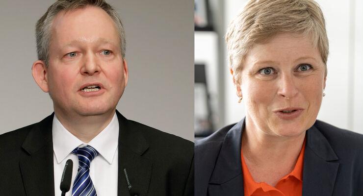 Dr. Florian Eck und Dr. Heike van Hoorn vom DVF