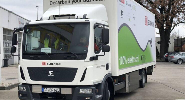 E-Lkw von Framo kommt bei DB Schenker zum Einsatz