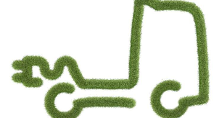 E-Mobilität, Grün, Gras, Lkw