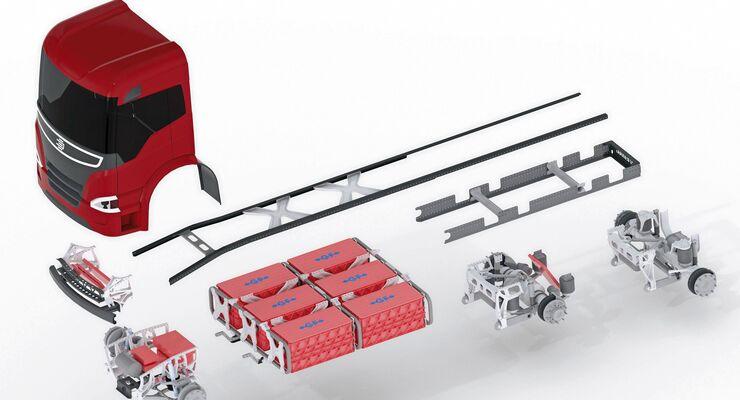 EDAG modular Lkw Baukasten