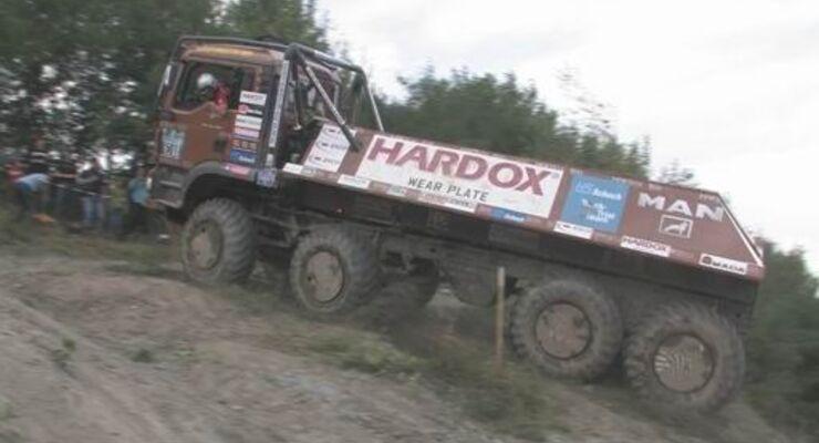 Ein Blick hinter die Kulissen eines Truck Trial-Events