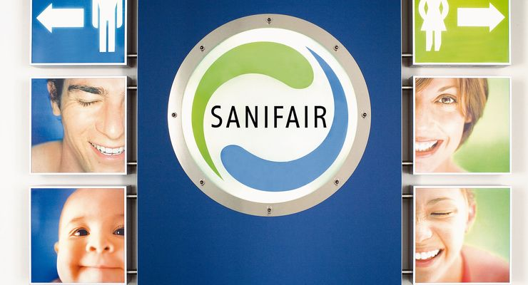 Eingangsbereich Sanifair-Anlage