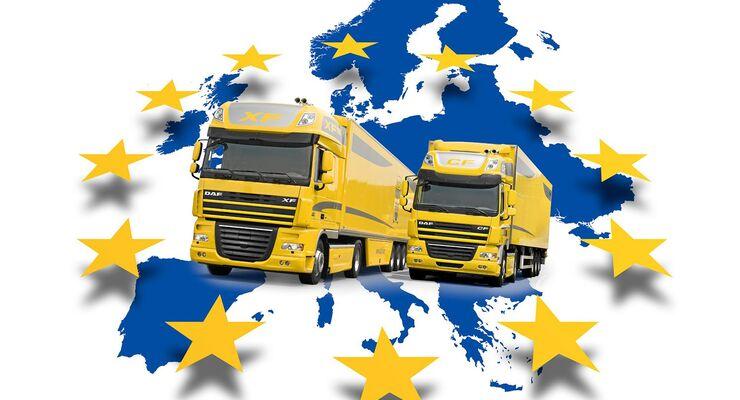 Europa, Lkw, Landkarte