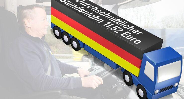 Fahrer, Lkw, Durchschnittlicher Stundenlohn