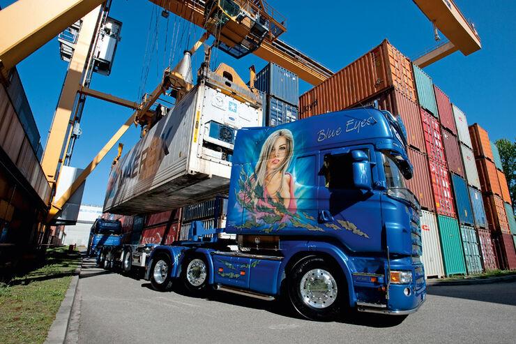 Fernfahrer 07_2011, Fuhrpark von Katharina und Max Steffen, CTB Container Transporte, Schweiz