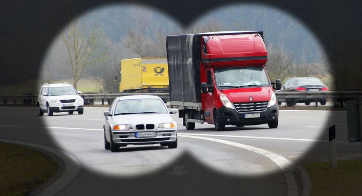 Fernglas, Polen, Transporter, Deutschland