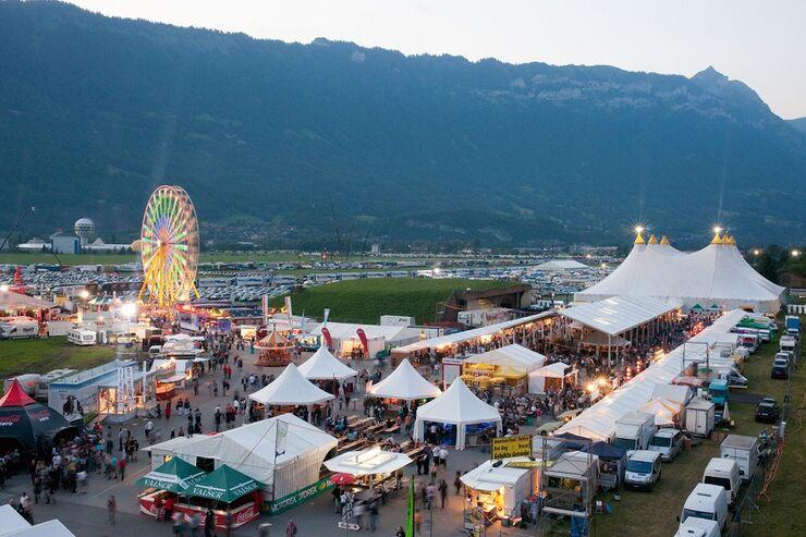 Festivalgel?nde Interlaken Schweiz