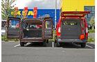 Fiat Doblò Cargo Kombi Maxi und Mercedes Vito Mixto, Laderaum
