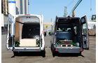 Ford Transit gegen Mercedes Sprinter, Ladeflächen