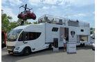 Futuria zeigte ein Sattelzug-Eventmobil auf Iveco-Daily-Basis. Preis über 650.000 Euro, dafür gibt es immerhin noch einen Whirlpool auf der Dachterasse.