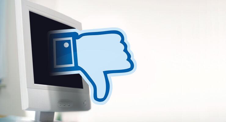 Gefällt nicht, Facebook, Monitor