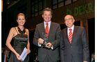 Gesamtwertung: Kipper bis 32 t, v. li.: Werner Bicker, Dr. Wolfgang Bernhard, Daimler AG, Alexandra von Lingen