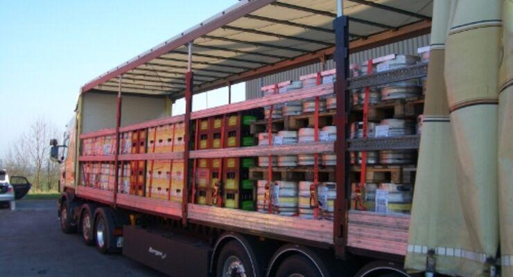 Getränkekisten und Fässer sicher transportieren