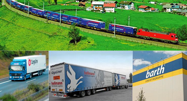 Grüne Logistik, Speditionen ,Paneuropa, Rösch, Barth, Hellmann, Cargoline