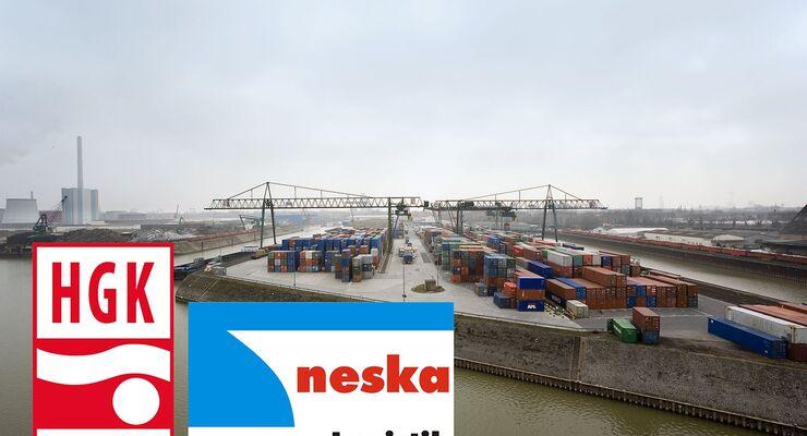 Hafen, Container, Neska, HGK, Montage
