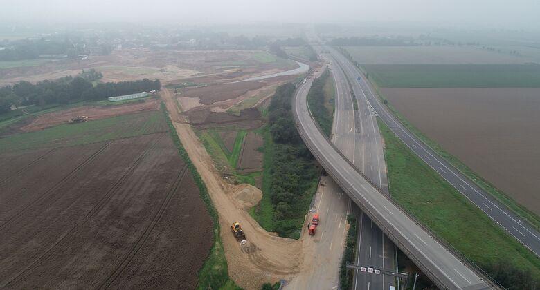 Hochwasserschäden an der Autobahn
