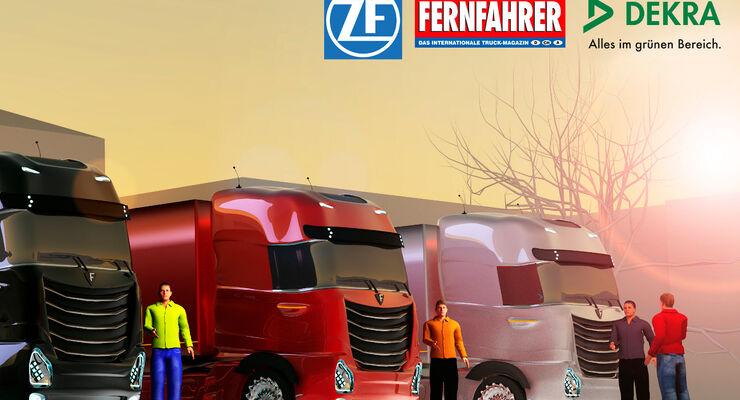 In der ZF-Zukunftsstudie 2.0 sollen, basierend auf den aktuellen Transportmarktentwicklungen, Wenn-dann-Szenarien aufgebaut werden, die sich durch bestimmte Stellgrößen bis etwa 2030 entwickeln könnten.