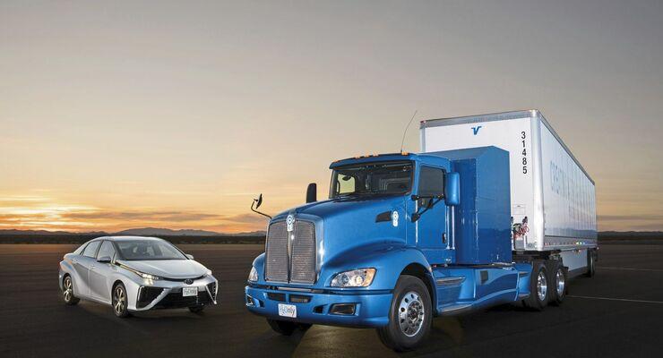 Konzept Lkw USA Toyota Brennstoffzelle