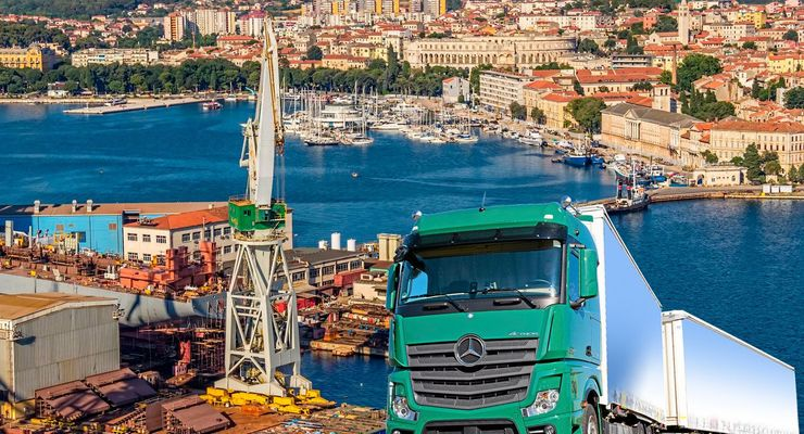 Kroatien, Lkw, Küste, Hafen
