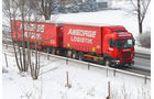 Lang Lkw, Ansorge, Schneegestöber, Allgäu